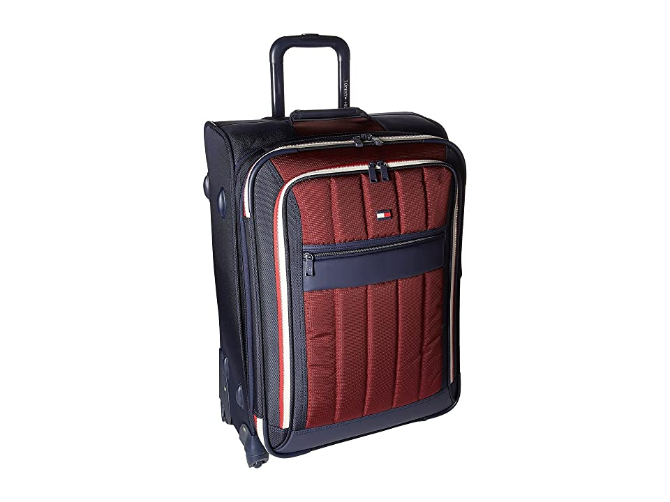 Tommy Hilfiger Classic Sport 25 Upright Suitcase (Navy/Burgundy) Pullman Luggage