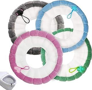 in Caldo Peluche Colore: Grigio Set di coprisedile per WC TOPBATHY