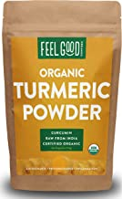 Organic Turmeric Root Powder w/Curcumin | Lab Tested for Purity | 100% Raw from India | 8oz Bag by Feel Good Organics