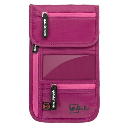 Winks Travel Shoulder Wallet Holder for Women | RFID Blocking Neck Pouch