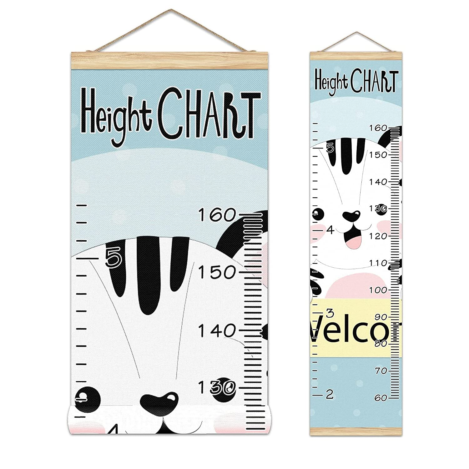 Growth San Jose Mall Chart Kid's Max 86% OFF Height Cute Pattern-01 Gr Tiger Welcome