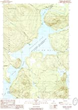 YellowMaps Churchill Lake ME topo map, 1:24000 Scale, 7.5 X 7.5 Minute, Historical, 1989, Updated 1989, 26.9 x 21.9 in
