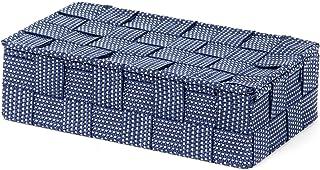 Compactor, Boîte avec Couvercle, Sangle Tressée, Bleu, Dimensions: 21 x 12 x H.5,5 cm, RAN8563