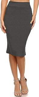 Women's Below The Knee Pencil Skirt for Office Wear -...