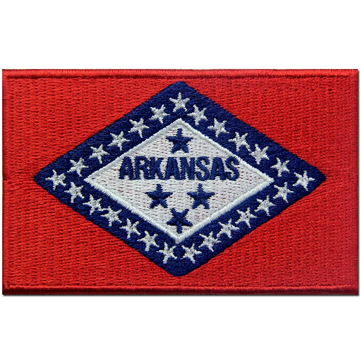 Arkansas State Flag Embroidered Emblem Iron On Sew On AR Patch