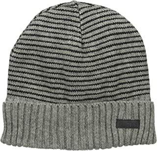 Kenneth Cole REACTION Men's Warm Winter Beanie Hat, Black Cuffed, One Size