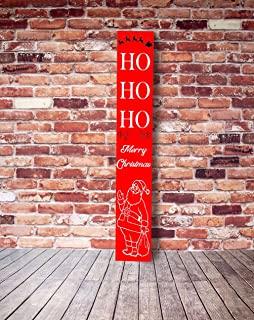 Wuuuu HO HO HO Christmas Porch Sign, Santa Porch Sign, Merry Christmas Porch Sign, Christmas Porch Sign, Santa Christmas Red Sign 1235 inches.