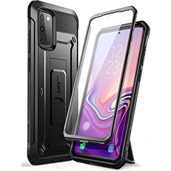 SupCase UB Pro Series Designed for Samsung Galaxy S20 5G Case, Built-in Screen Protector with Full-Body Rugged Holster & Kickstand for Galaxy S20 (2020 Release) (Black)