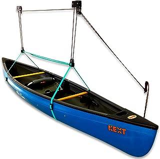 StoreYourBoard Canoe Ceiling Storage Hoist, Hi Lift Home and Garage Hanging Pulley Rack