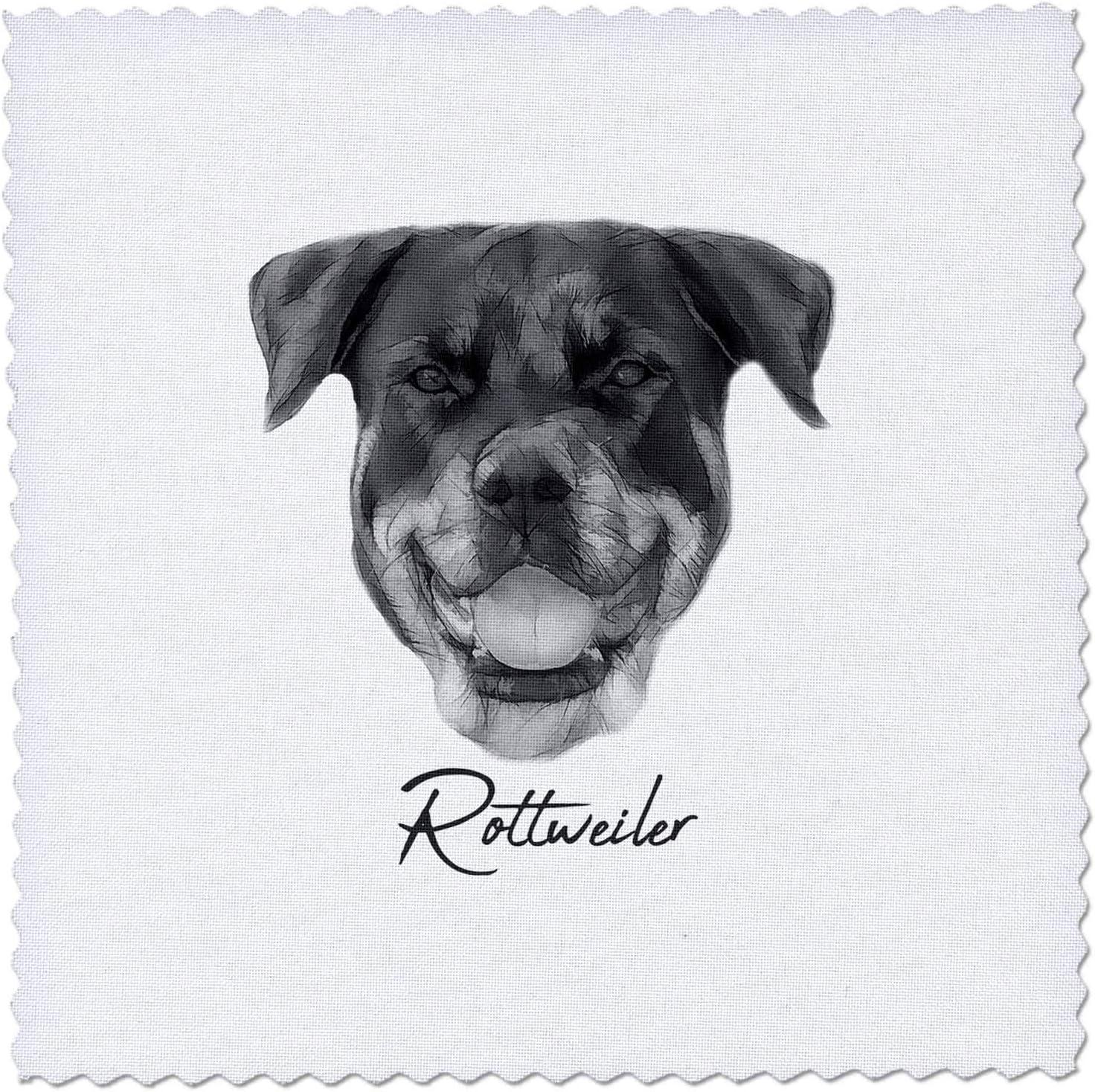 3dRose Alexis Atlanta Mall Luxury goods Design - Dog Breed Rottweiler dog in bl portrait