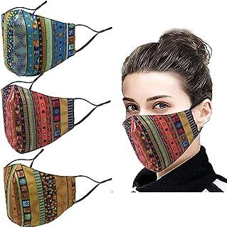 غطاء الوجه منديل ، قناع من نسيج القطن الناعم نصف وجه واقي ، أزياء للجنسين بيزلي بالاكلافا