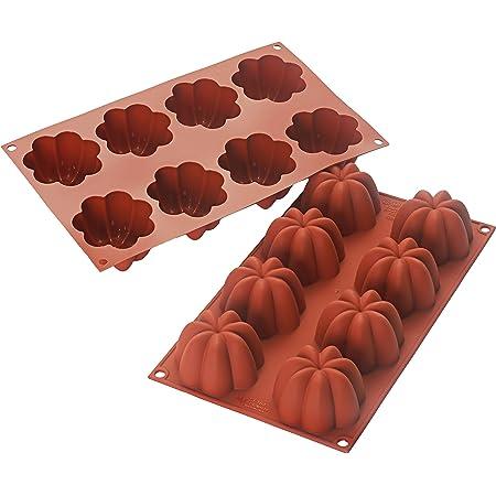 Silikomart 26.154.00.0060 SF154 Moule Forme Charlotte 8 Cavités Silicone - Coloris aléatoire