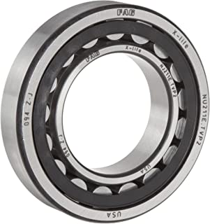 FAG NJ203E-TVP2-C3 Cylindrical Roller Bearing, Single Row, Straight Bore, Removable Inner Ring, Flanged, High Capacity, Polyamide/Nylon Cage, C3 Clearance, Metric, 17mm ID, 40mm OD, 12mm Width