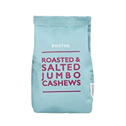 Booths Roasted and Salted Jumbo Cashews, 150 g