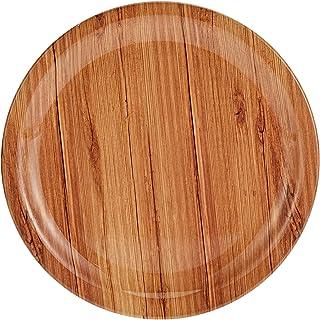 Servewell melamine Dinner Plate wooden design, Brown