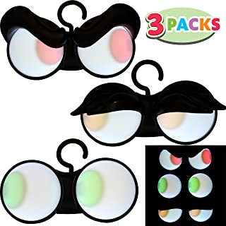 Joiedomi Halloween Animated Flashing Peeping Eyes Lights (3 Pack); Dark-activated