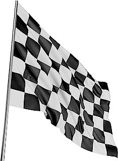 comprar comparacion TRIXES Bandera Grande a Cuadros Blancos y Negros Carrera Autos F1-5 pies x 3 pies