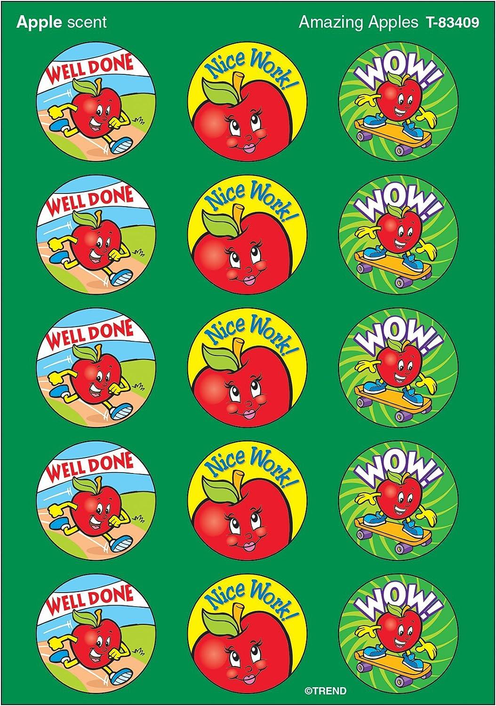 TREND enterprises, Inc. Amazing Apples/Apple Stinky Stickers, 60 ct.
