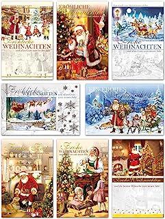 8 Klappkarten /& 8 Umschl/äge: Weihnachtskarten matter Naturkarton mit Blanko-Innenseiten f/ür Weihnachtsgr/ü/ße an Familie Kunden 165 x 115 mm Nordische Weihnacht Freunde