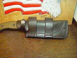 Custom Made Ontario Rat 5 Horizontal Knife Sheath Made Out of 9 oz. Leather.