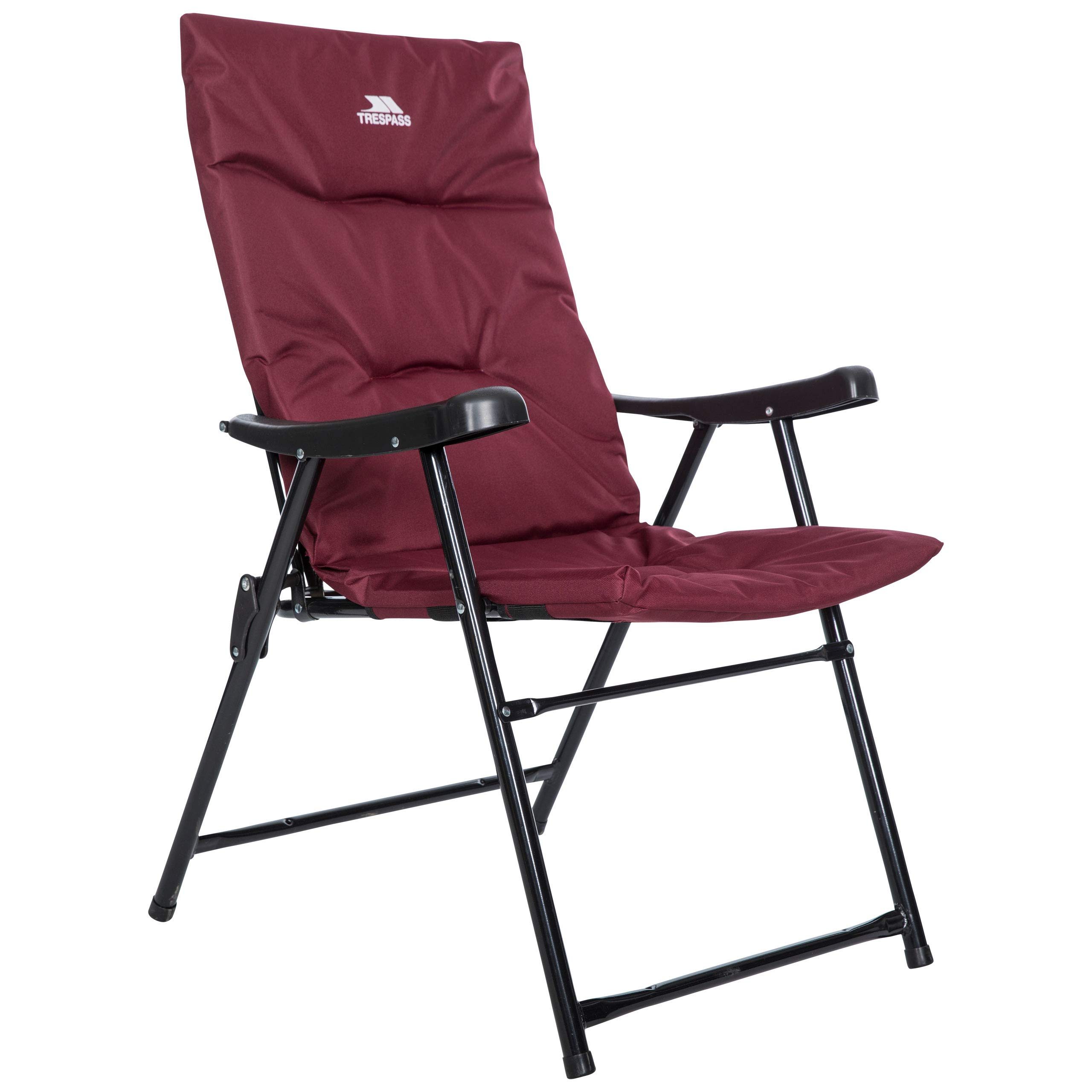 Granate. Trespass Paddy Silla plegable acolchada para acampada o jard/ín
