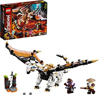 LEGO NINJAGO Wu's Battle Dragon 71718 building set with hero Wu and Gleck minifigures, Toy for Boys and Girls 7+ years old...