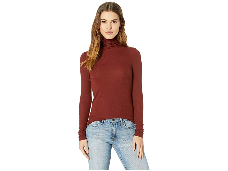 Image of AG Adriano Goldschmied Chels Turtleneck (Tannic Red) Women's Clothing