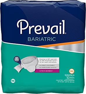 Prevail Bariatric Ultimate Absorbency Incontinence Briefs, Size B, 10 Count