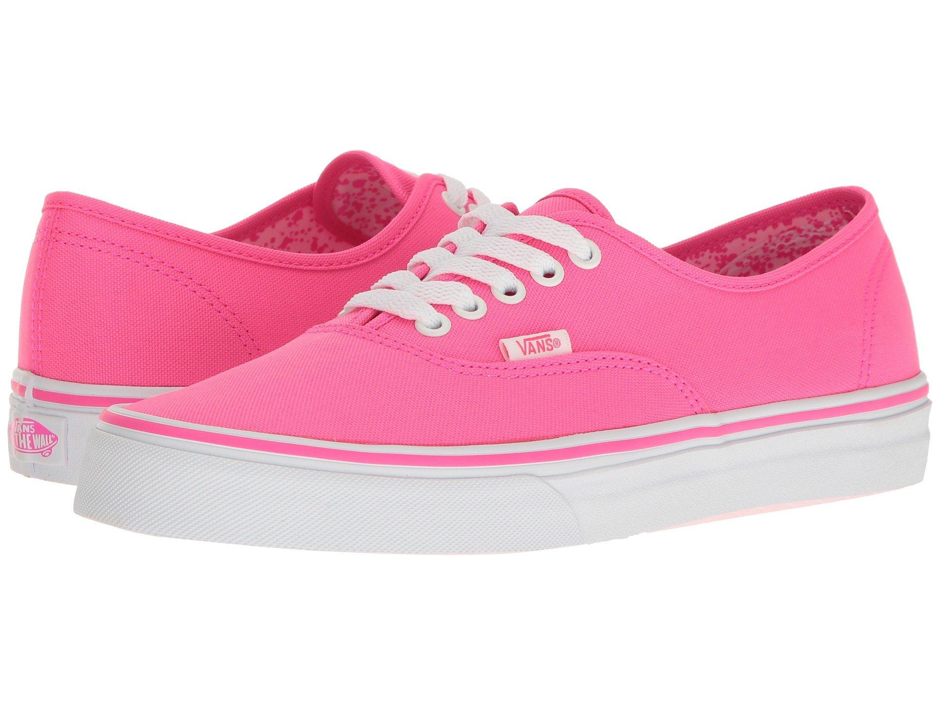 Vans Authentic™ In (Neon Splatter) Neon Pink True White  e5da9b393