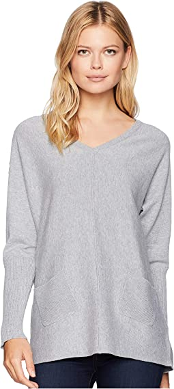 Long Sleeve Lace-Up Detail Sweater