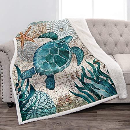 Details about  /Turtle Collection Cute Turtle Fleece Blanket 50x60x80 Printed in US