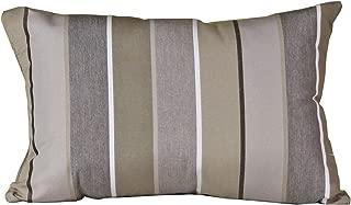 Outdoor Lumbar Pillow - Sunbrella Milano Charcoal Fabric - Amish Made in The USA