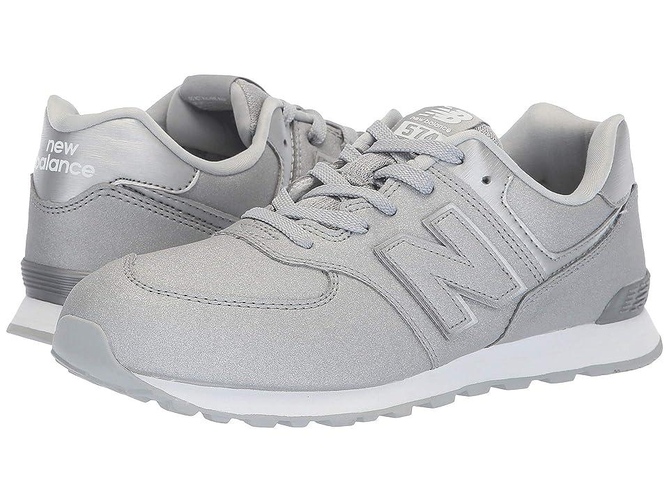 New Balance Kids GC574v1 (Big Kid) (Silver/Silver) Girls Shoes