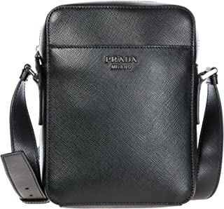 817ed2b4ff Prada sac homme bandoulière en cuir noir