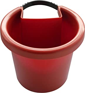 Small Hanging Planter - Also Known as Hugger - ATTACHES to RAIN Pipe and Turns it into a Vertical Garden (Terracotta Brown; Fastening Strap Included, Approx 7