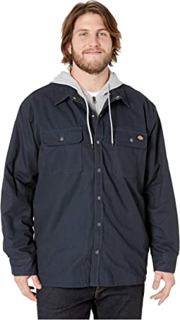 Big & Tall Relaxed Fit Icon Hooded Duck Quilted Shirt Jacket