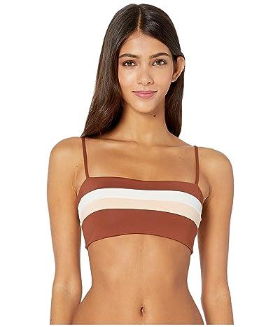 L*Space Color Block Rebel Stripe Top (Cream/Desert Rose/Tobacco) Women