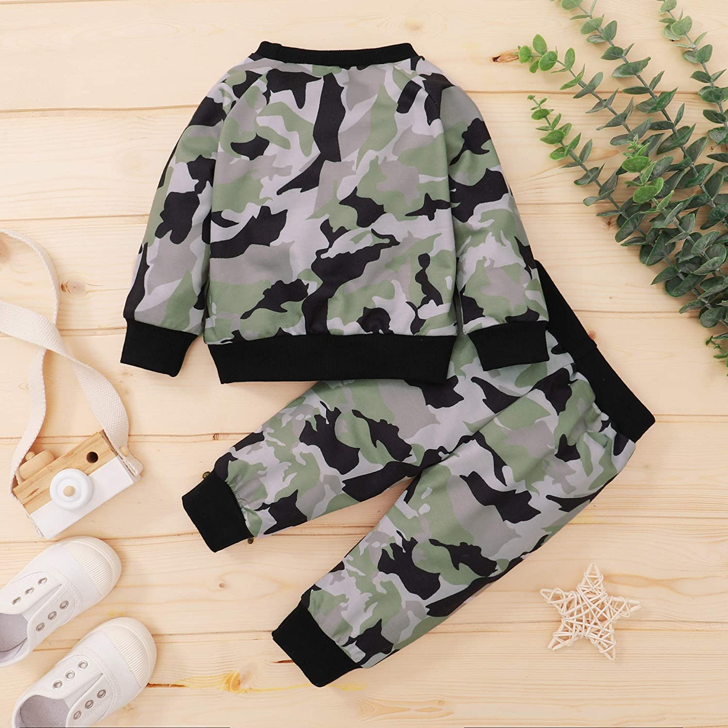 Mioglrie Newborn Baby Boy Clothes Romper Pants Set Cute Baby Clothes Boy Summer Newborn Outfits for Boys