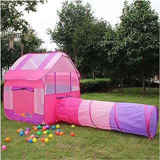GJNWRQCY Lekhus tält tunnel, inomhus/utomhus lektunnel och lektält lekplats för barn baby barnleksaker, födelsedag (bollar...