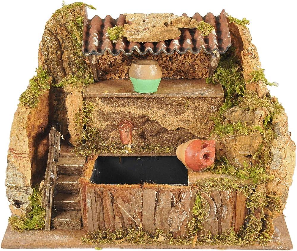 Peragashop ,fontana con pompa funzionante,accessori presepe 623113429
