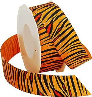 Morex Ribbon Tiger Grosgrain Ribbon, Orange