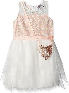 فستان Beautees للفتيات ذو طبقات من التول بدون أكمام