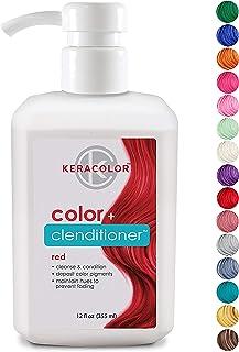 KERACOLOR Keracolor Clenditioner色の堆積コンディショナーColorwash、12 FL。オンス 12オンス 赤