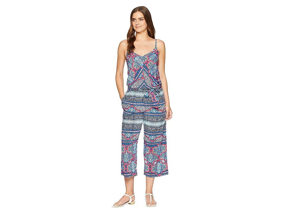 Tommy Bahama Riviera Tile Crop Jumpsuit Cover-Up (Cerise) Women