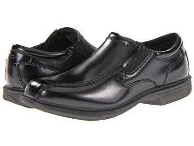Nunn Bush Bleeker Street Bicycle Toe Slip-On with KORE Slip Resistant Walking Comfort Technology (Black) Men