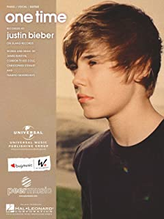 Justin Bieber 'One Time' Piano Vocal Guitar Sheet Music