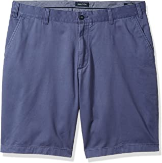 Men's Big and Tall Cotton Twill Flat Front Chino Short
