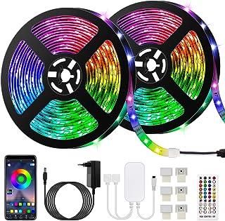 comprar comparacion 10M Bluetooth Tiras LED Musical 5050 RGB, Akapola Tiras de Luces LED Iluminación con 12V 300 LEDS, Función Musical, Horari...