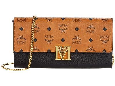 MCM Mena Visetos Leather Block Flap Wallet/Two-Fold Large