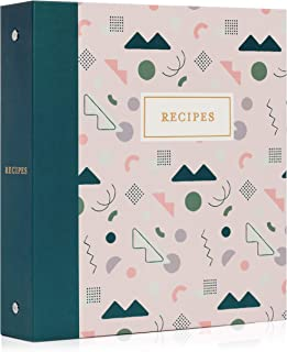 Jot & Mark Recipe Organizer 3 Ring Binder Set | 50 Recipe Cards 4x6, Full Page Dividers, Plastic Page Card Protectors